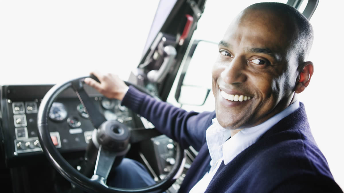 photo of a happy driver