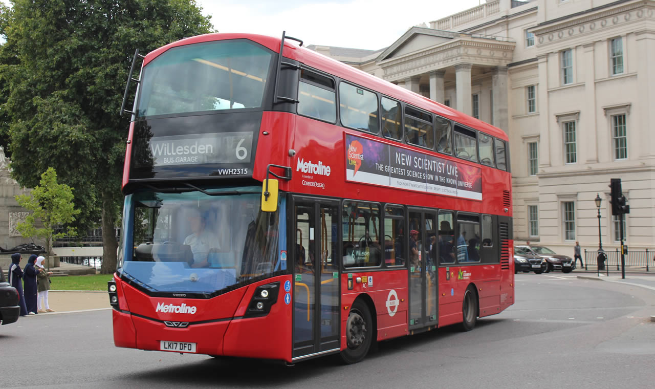 Metroline bus banner for safe and engaged drivers case study