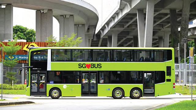 Singapore LTA case study image of a bus