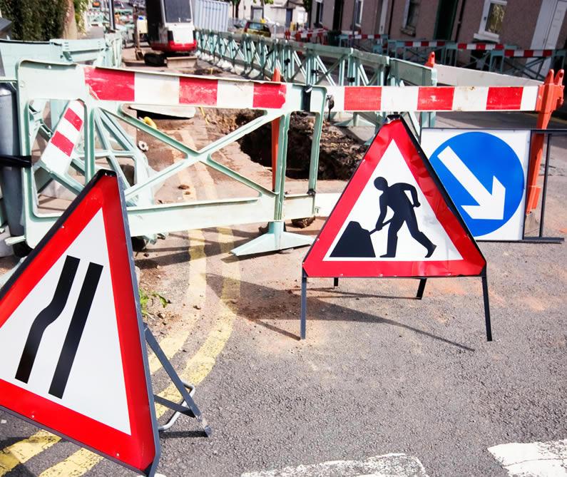 Photo of roadworks
